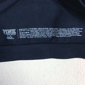 PINK Victoria's Secret Intimates & Sleepwear - PINK Victoria's Secret Black Sports Bra Large